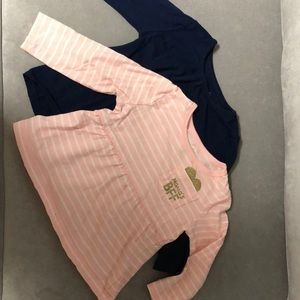 2 Carters Baby Girl 18 Month Long Sleeve Shirts